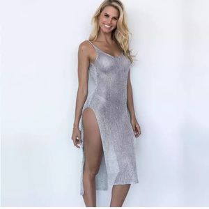 NEW! Silver Mesh Cover-up